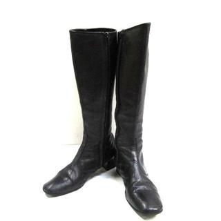 アニエスベー(agnes b.)のアニエスベー ブーツ 37 レディース - 黒(ブーツ)