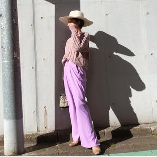 シールームリン(SeaRoomlynn)のシールームリン  ストレート スリット パンツ 完売品 人気(カジュアルパンツ)
