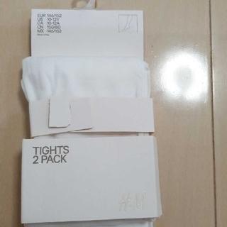 エイチアンドエム(H&M)の白タイツ 140~150(靴下/タイツ)