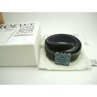 ロエベ(LOEWE)のロエベ リバーシブルベルト アナグラム レザー黒紺 メンズ 100cm 新品21(ベルト)