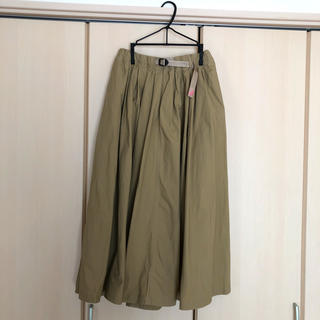 グラミチ(GRAMICCI)のBEAMS BOY×GRAMICCI ギャバロングスカート ベージュ サイズF(ロングスカート)