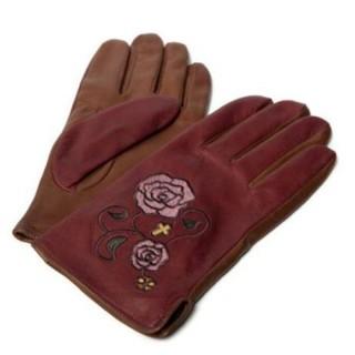 グラム(glamb)の未使用 glamb レザーグローブ 刺繍 手袋(手袋)