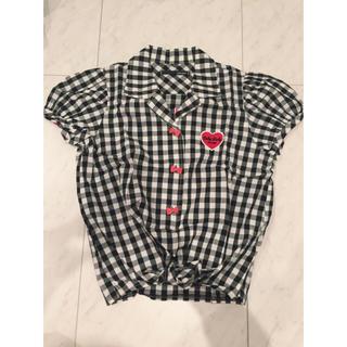 ワンスポ(one spo)のone spo ギンガムチェックシャツ(シャツ/ブラウス(半袖/袖なし))