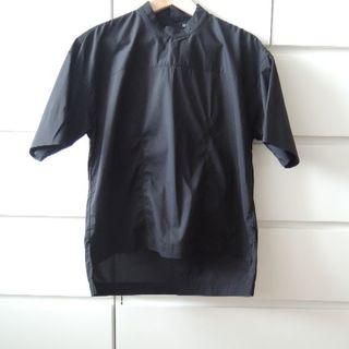 ムジルシリョウヒン(MUJI (無印良品))の無印良品 スタンドカラーブラウス(黒)(シャツ/ブラウス(半袖/袖なし))