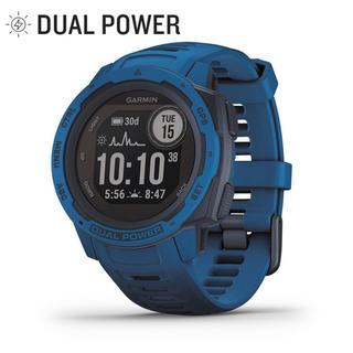 ガーミン(GARMIN)のガーミン Instinct Dual Power インスティンクト Blue(腕時計(デジタル))