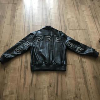 Supreme - Supreme arc logo leather jacket レザージャケット