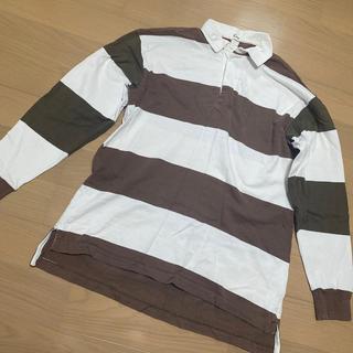ギャップ(GAP)のボーダー長袖ポロシャツ(ポロシャツ)