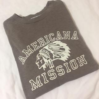 DEUXIEME CLASSE - AP STUDIO AMERICANA/アメリカーナ別注 インディアン Tシャツ