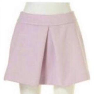 マーキュリーデュオ(MERCURYDUO)のmercuryduo 台形 ミニ スカート ラベンダー ピンク(ミニスカート)