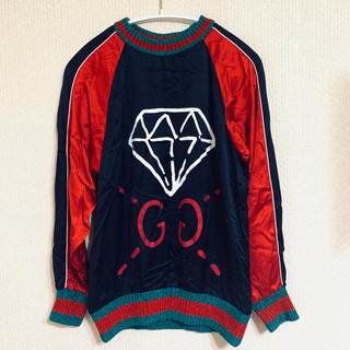 グッチ(Gucci)の極美品✨GUCCI グッチ✨GHOST ゴースト シルク スウェット S(トレーナー/スウェット)