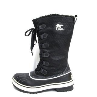 ソレル(SOREL)のSOREL(ソレル) ロングブーツ メンズ 黒×白(ブーツ)