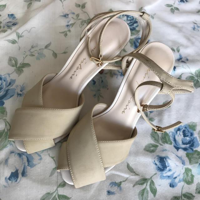 eimy istoire(エイミーイストワール)のeimy istoire フロントクロスサンダル レディースの靴/シューズ(サンダル)の商品写真