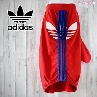 アディダス(adidas)のadidas originals リメイク 変形 ビッグロゴ ロングスカート M(ロングスカート)