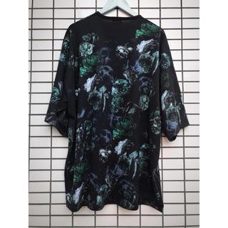 ラッドミュージシャン(LAD MUSICIAN)のLAD MUSICIAN FLOWER SKULL BIG T-SHIRT (Tシャツ/カットソー(半袖/袖なし))