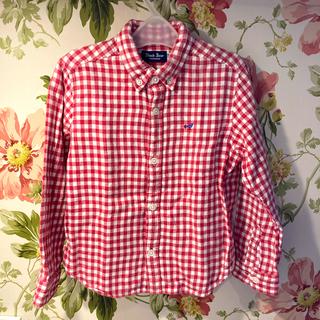 ミキハウス(mikihouse)のミキハウス 赤色チェックシャツ 110(ブラウス)