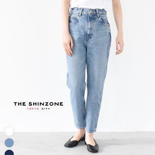 シンゾーン(Shinzone)の美品シンゾーン   キャロットデニムパンツ 34インチ ブルー(デニム/ジーンズ)