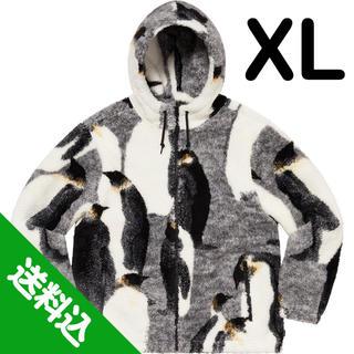 シュプリーム(Supreme)の【XL】SUPREME Penguins Hooded Fleece 黒(ブルゾン)