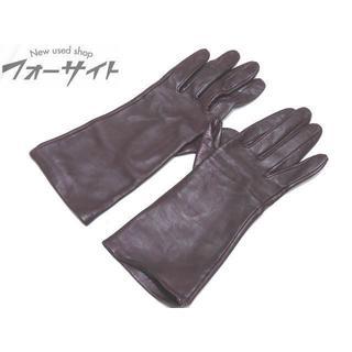 ミラショーン(mila schon)のミラショーン ◆ ボルドー系 レザー レディース グローブ 1(手袋)