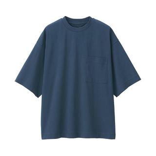 ムジルシリョウヒン(MUJI (無印良品))のMUJI Labo 天竺編みクルーネックドロップショルダーTシャツ新品(Tシャツ/カットソー(半袖/袖なし))
