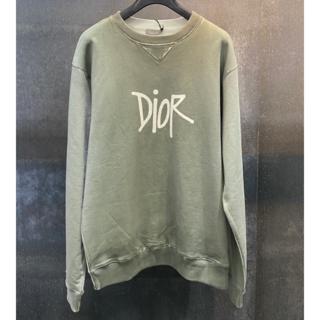 ディオール(Dior)のDIOR×STUSSY ロゴ コットン スウェットシャツ(スウェット)