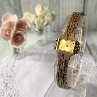 アガット(agete)の【美品】agete アガット 腕時計 0.08ct ダイヤ 限定 ゴールド(腕時計)