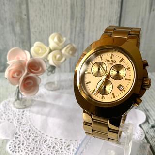 ラドー(RADO)の【美品】RADO ラドー 腕時計 クロノグラフ ゴールド 541.0638.3(腕時計(アナログ))