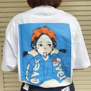 カーハート(carhartt)のover print 古塔ツミ POP art T 9090 青 L(Tシャツ(半袖/袖なし))