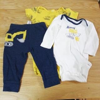 carter's - carter's ロンパース (長袖・半袖)ズボン 60~70cm 3点セット
