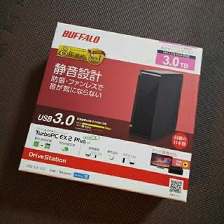 バッファロー(Buffalo)のバッファロー 外付けハードディスク 3.0TB  HD-LC3.0U3-BKE(PC周辺機器)
