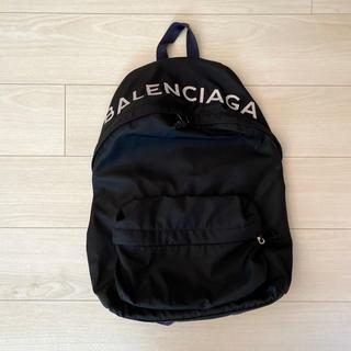 バレンシアガ(Balenciaga)のバレンシアガ リュック バックパック ロゴ ユニセックス ブラック ネイビー(バッグパック/リュック)