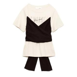 リリーブラウン(Lily Brown)のビスチェドッキングロゴTシャツ(Tシャツ(半袖/袖なし))