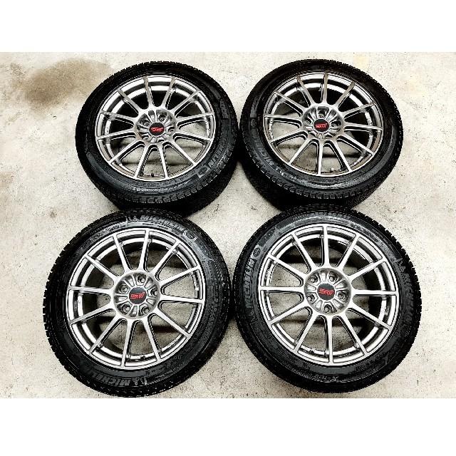 スバル(スバル)のスバル GDB スペックCタイプRA STI 純正ホイール スタッドレス WRX 自動車/バイクの自動車(タイヤ・ホイールセット)の商品写真