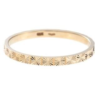 ココシュニック(COCOSHNIK)のココシュニック K10 カット リング 極光 デザイン ゴールド 美品(リング(指輪))