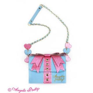 アンジェリックプリティー(Angelic Pretty)のAngelic Pretty Present Ribbonポシェット サックス(ショルダーバッグ)