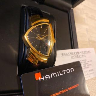 ベンチュラ(VENTURA)の人気品! HAMILTON ベンチュラ H243010 時計 ゴールド ブラック(腕時計(アナログ))