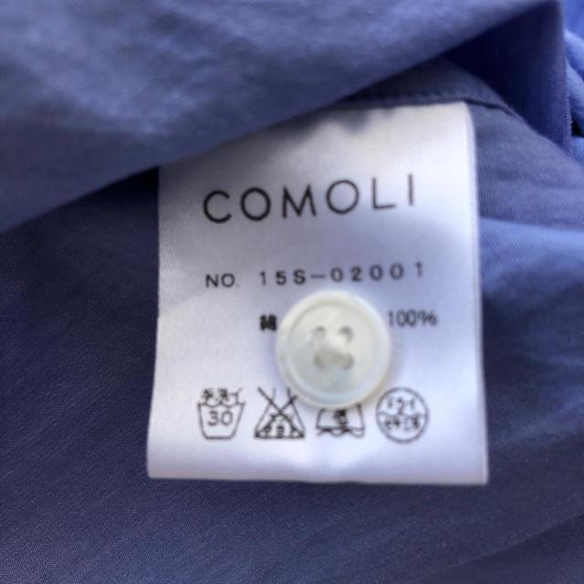 COMOLI(コモリ)のcomoli コモリシャツ サックス サイズ2 メンズのトップス(シャツ)の商品写真