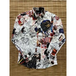 フェンディ(FENDI)の美品 フェンディFENDI シャツ 長袖 ワイシャツ M(シャツ)