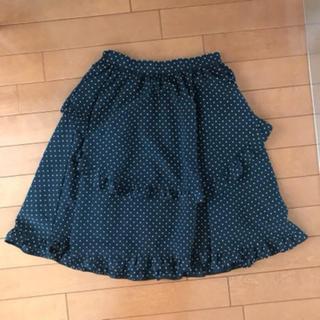 マウジー(moussy)の水玉フリルスカート(ひざ丈スカート)