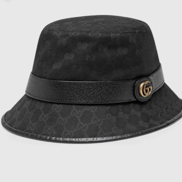 Gucci(グッチ)のダブルG付き GGキャンパス バケットハット メンズの帽子(ハット)の商品写真