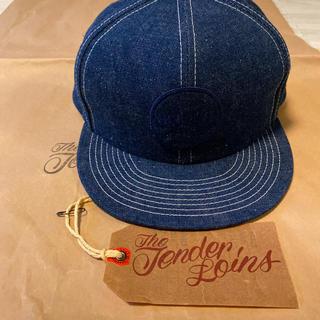 テンダーロイン(TENDERLOIN)の人気品! TENDERLOIN トラッカー デニム キャップ インディゴ 帽子(キャップ)