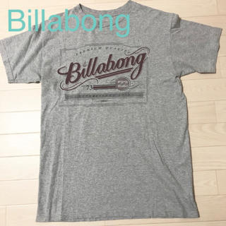 ビラボン(billabong)の★美品★ビラボン Tシャツ グレー S〜Mサイズ メンズ ロゴマーク(Tシャツ/カットソー(半袖/袖なし))