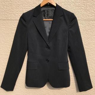 アンタイトル(UNTITLED)のUNTITLED アンタイトル ジャケット ストライプ 黒 ブラック 1(テーラードジャケット)