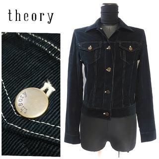 セオリー(theory)のセオリー コーデュロイ ジャケット ブルゾン 2 ネイビー レディース(ブルゾン)