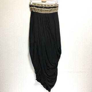 マックスマーラ(Max Mara)のイタリア製 マックスマーラ ステュディオ シルク 変形ドレスロングスカート(ロングスカート)