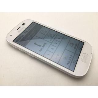 フジツウ(富士通)のSIMフリー ドコモ らくらくスマートフォン4 F-04J ホワイト美品320(スマートフォン本体)