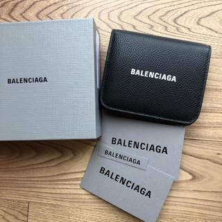 バレンシアガ(Balenciaga)の新品 バレンシアガ 594312 ロゴ コンパクト 二つ折り財布(折り財布)