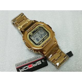 ★SANDA390★ ゴールド★新品未使用送料込み★バンド長さ調節します(腕時計(デジタル))