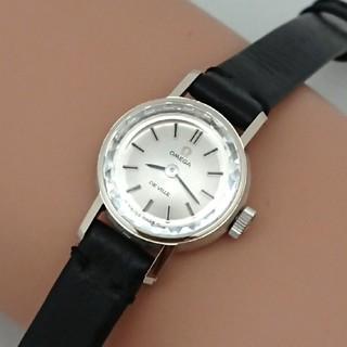 オメガ(OMEGA)のOH済 1969年製 オメガ デビル K18金無垢レディース カットガラス極上品(腕時計)