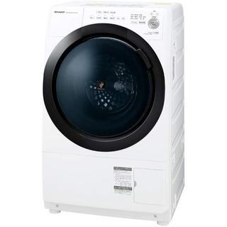 シャープ(SHARP)の【設置・無料サービス】シャープ ドラム式 洗濯乾燥機 ヒーターセンサー乾燥 左開(洗濯機)