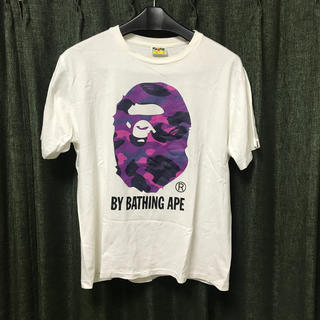 A BATHING APE - BATHING APE ロゴシャツ パープル L